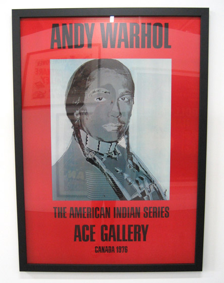 Andy Warhol red poster