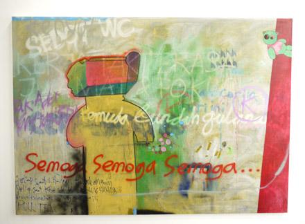 pop art painting graffitti style