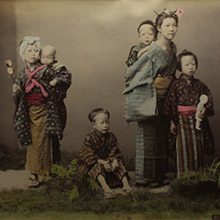 vancouver fine art sale kusakabe kimbei group of children