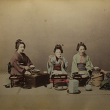vancouver fine art sale kusakabe kimbei Eating Rice