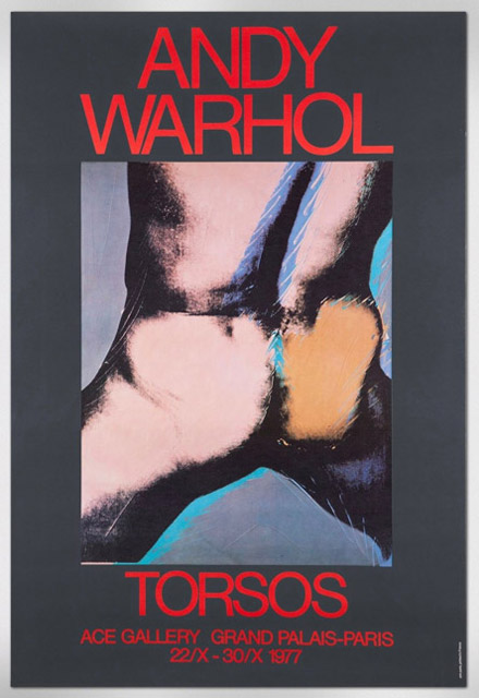 Warhol poster of nude male